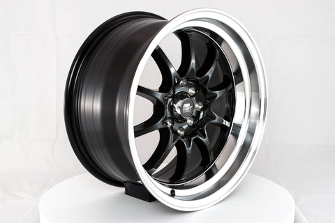 MT11 - Black w/Machine Lip - 16x8.0 4x100/4x114.3 Offset +15