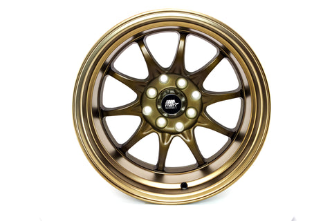 MT11 - Satin Bronze w/ Bronze Lip - 15x8.0 4x100/4x114.3 Offset +0