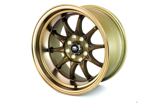 MT11 - Satin Bronze w/Bronze Lip - 15x8.0 4x100/4x114.3 Offset +0