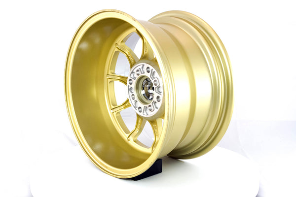 MT11 - Gold w/ Machined Lip - 15x8.0 4x100/4x114.3 Offset +0
