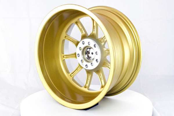 MT11 - Gold w/Machined Lip - 16x8.0 5x100/5x114.3 Offset +15