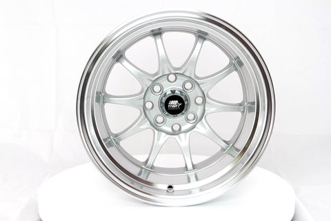 MT11 - Silver w/ Machined Lip - 15x8.0 4x100/4x114.3 Offset +0