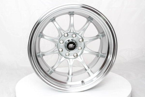 MT11 - Silver w/Machined Lip - 15x9.0 4x100/4x114.3 Offset +0