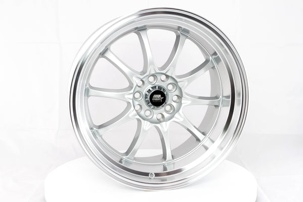 MT11 - Silver w/Machined Lip - 17x9.0 5x100/5x114.3 Offset +20