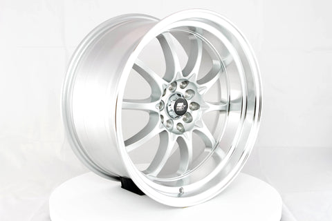 MT11 - Silver w/ Machined Lip - 17x9.0 5x100/5x114.3 Offset +20