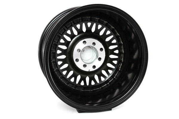 MT13 - Matte Black w/ Gold Rivets - 15x8.0 4x100/4x114.3 Offset +20