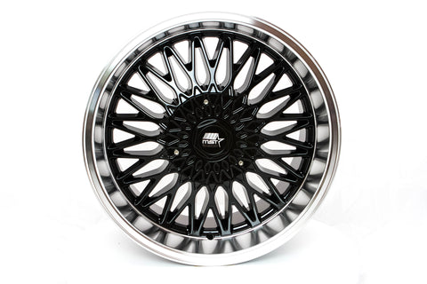 MT14 - Black w/ Machined Lip - 17x9.0 5x100/5x114.3 Offset +20
