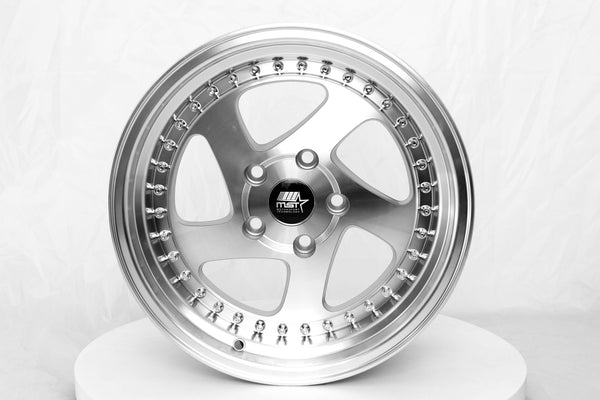 MT15 - Silver w/Machined Face - 16x8.0 5x114.3 Offset +20