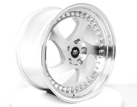 MT15 - Silver w/Machined Face - 18x9.5 5x114.3 Offset +35