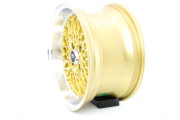 MT16 - Gold w/Machined Lip - 15x8.0 4x100 Offset +20