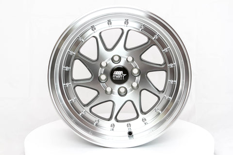 MT28 - Gunmetal w/ Machined Face - 15x8.0 4x100/4x114.3 Offset +20