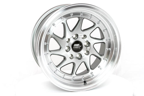 MT28 - Gunmetal w/Machined Face - 15x8.0 4x100/4x114.3 Offset +20