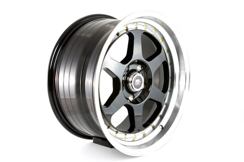 MT35 - Black w/Machined Lip Gold Rivets - 17x8.5 5X114.3 Offset +20