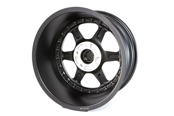 MT35 - Matte Black w/Gold Rivets - 17x8.5 5X114.3 Offset +20
