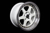 MT35 - White w/Machined Lip Gold Rivets - 17x8.5 5X114.3 Offset +20