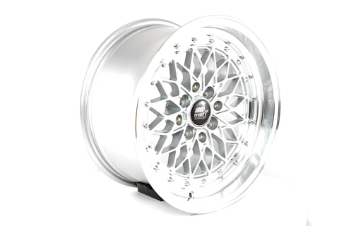 MT36 - Silver w/ Machined Lip - 15x80 4X100/4X114.3 Offset +20