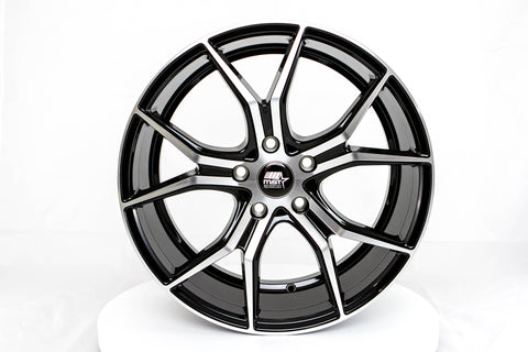 MT37 - Black w/Machined Face - 18x8.0 5X114.3 Offset +45