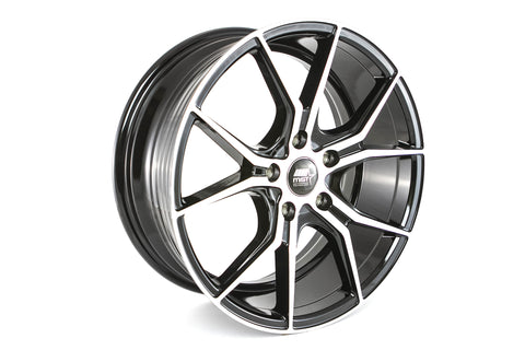 MT37 - Black w/ Machined Face - 17x75 5X114.3 Offset +42