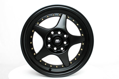 MT42 - Matte Black - 15X7.0 4X100/114.3 Offset +25