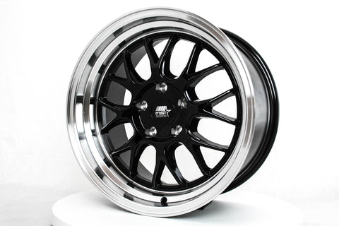 MT43 - Black w/ Machined Lip - 17x9.0 5x114.3 Offset +30