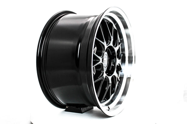 MT43 - Black w/ Machined Lip - 18x9.5 5x114.3 Offset +30
