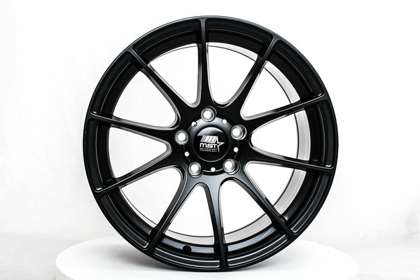 MT44 - Matte Black - 17x9.0 5x114.3 Offset +35