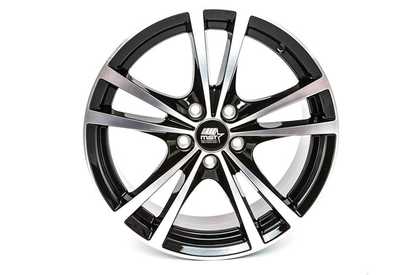 Saber - Glossy Black w/Machined Face - 16x7.0 5x114.3 Offset +45