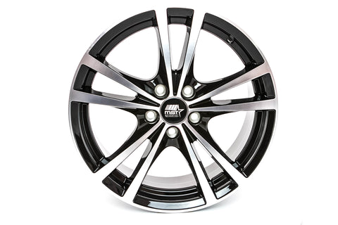 Saber - Glossy Black w/ Machined Face - 16x7.0 5x100 Offset +45