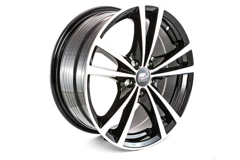 Saber - Glossy Black w/Machined Face - 16x7.0 5x100 Offset +45