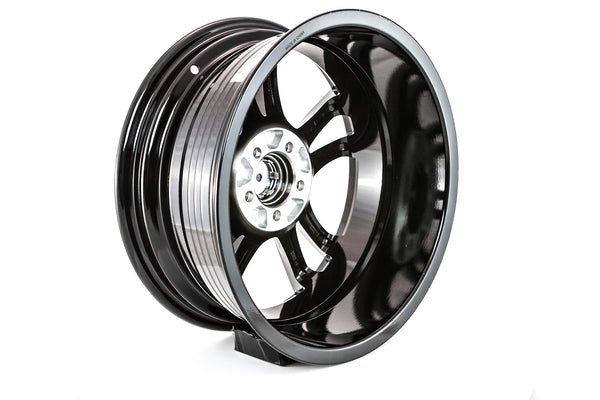 Saber - Glossy Black w/ Machined Face - 16x7.0 5x114.3 Offset +45