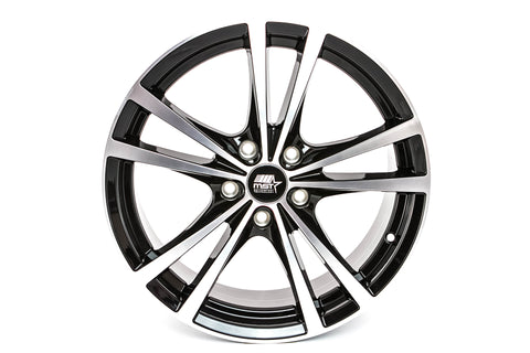 Saber - Glossy Black w/Machined Face - 17x7.0 5x110 Offset +45