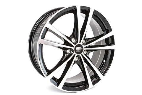 Saber - Glossy Black w/ Machined Face - 17x7.0 5x100 Offset +45