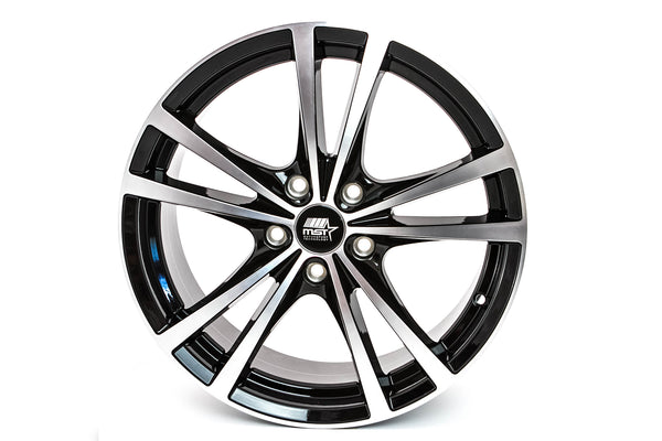 Saber - Glossy Black w/ Machined Face - 17x7.0 5x110 Offset +45