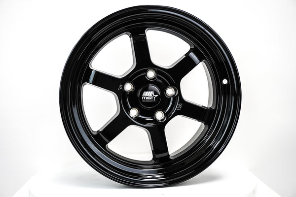 Time Attack - Glossy Black - 16x8.0 5x114.3 Offset +20