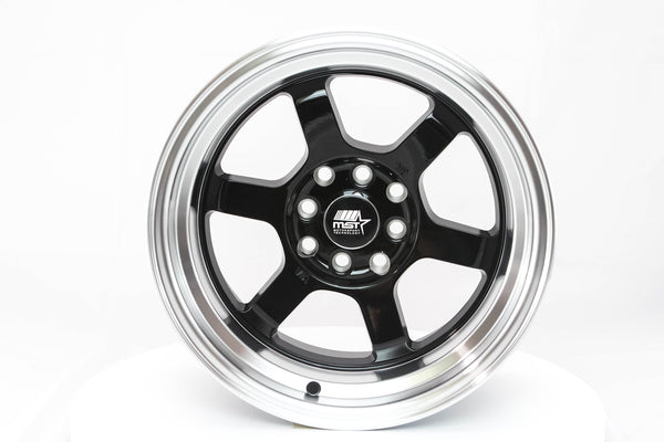 Time Attack - Black w/Machined Lip - 15x8.0 4x100/4x114.3 Offset +0