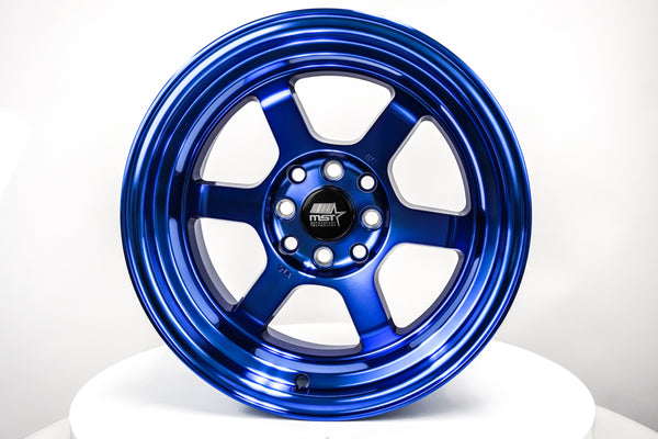 Time Attack - Sonic Blue - 15x8.0 4x100/4x114.3 Offset +0