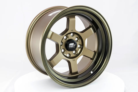 Time Attack - Matte Bronze w/ Bronze Machined Lip - 15x8.0 4x100/4x114.3 Offset +0