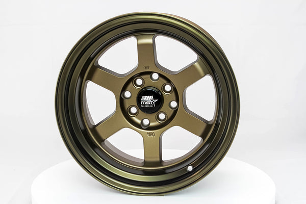 Time Attack - Matte Bronze w/Bronze Machined Lip - 15x8.0 4x100/4x114.3 Offset +0