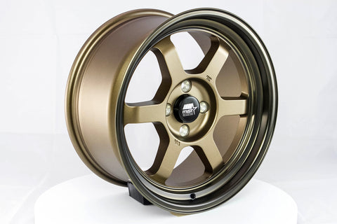 Time Attack - Matte Bronze w/Bronze Machined Lip - 16x8.0 4x100 Offset +20