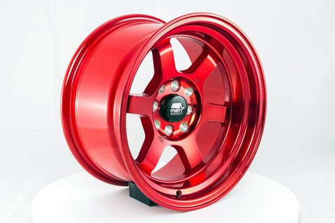 Time Attack - Ruby Red - 15x8.0 4x100/4x114.3 Offset +0
