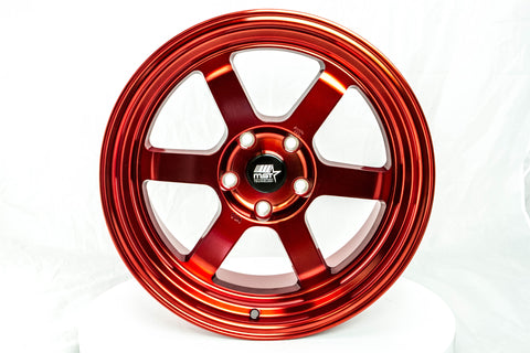 Time Attack - Ruby Red - 17x9.0 5x114.3 Offset +20
