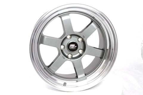 Time Attack - Gunmetal w/Machined Lip - 17x9.0 5x114.3 Offset +20