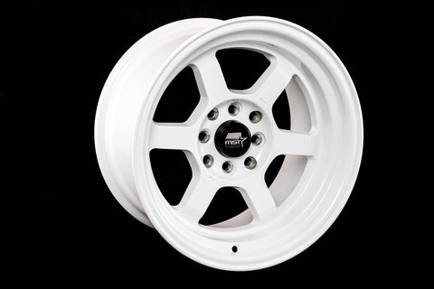 Time Attack - Glossy White - 15x8.0 4x100/4x114.3 Offset +0