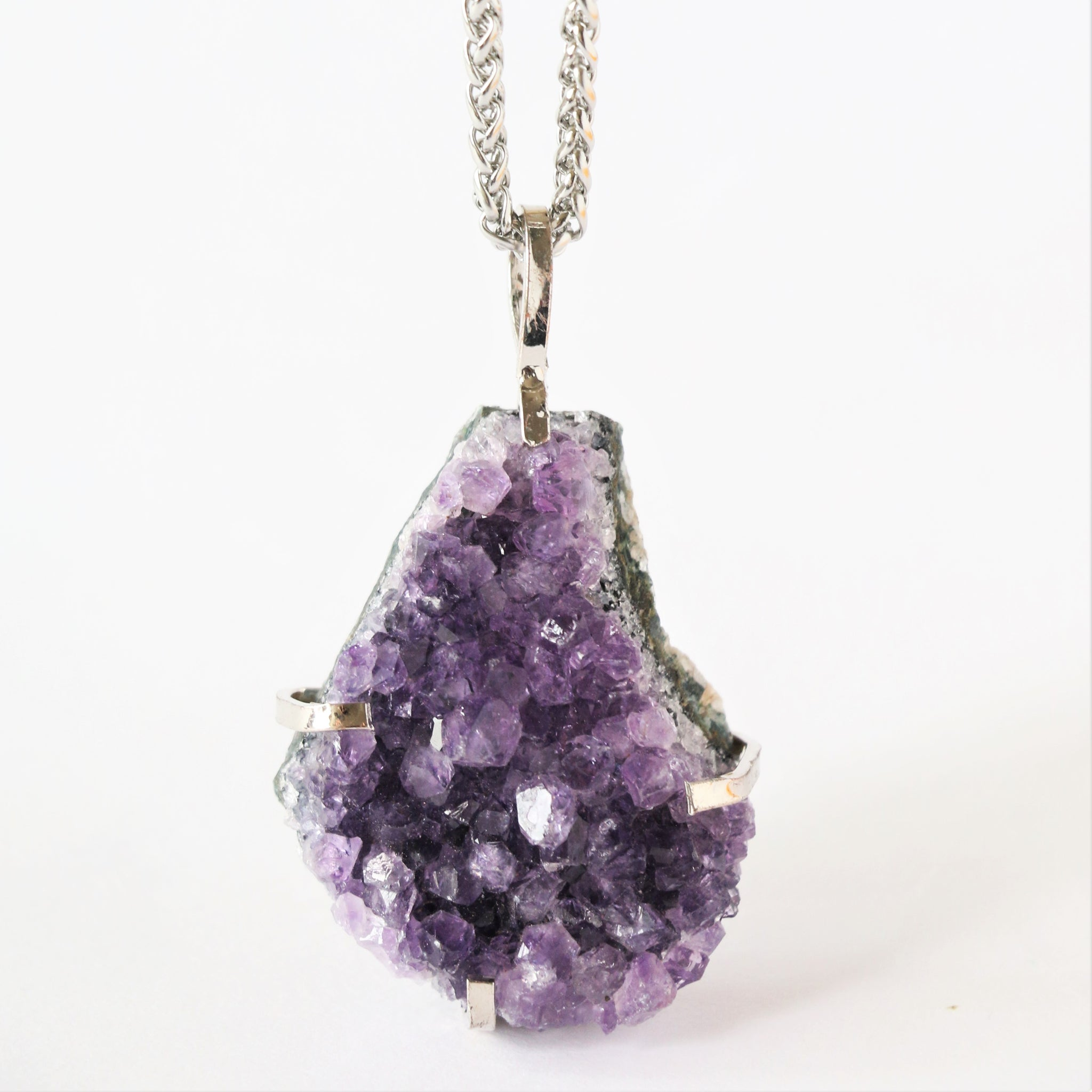 56e2ed90a706e Raw amethyst necklace - Men jewellery – Vermeer Jewellery