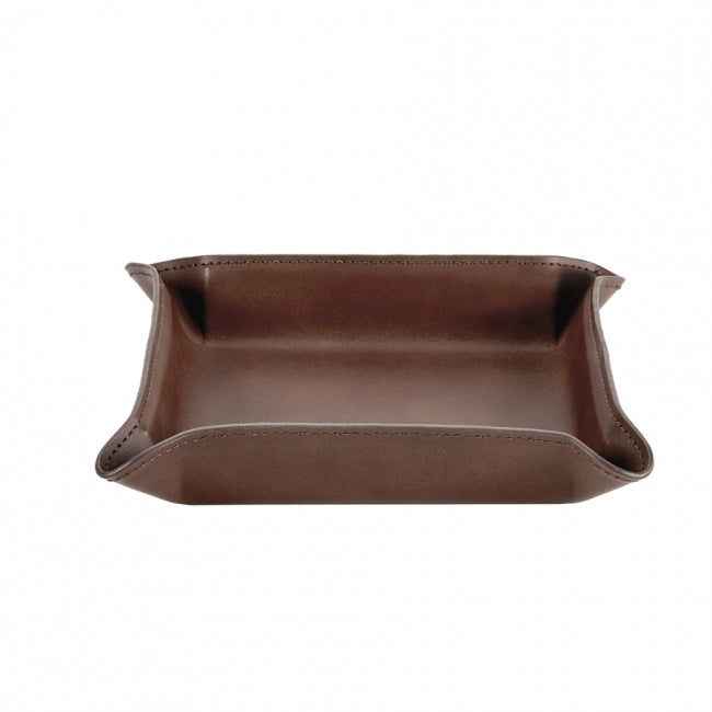 Medium Valet Tray - Brown Leather