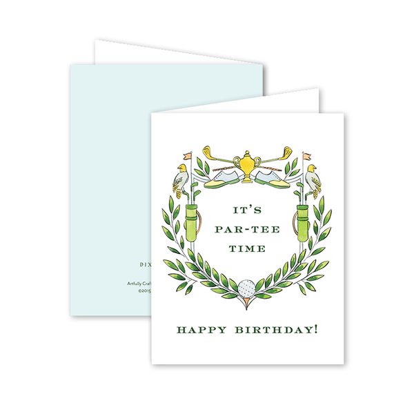 Golf Crest Birthday Card