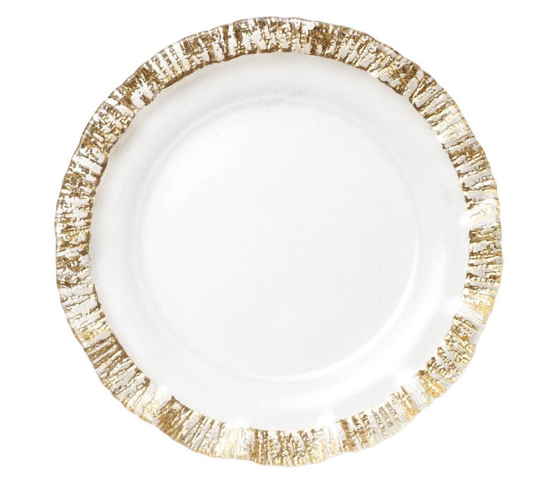 Rufolo Glass Gold Charger