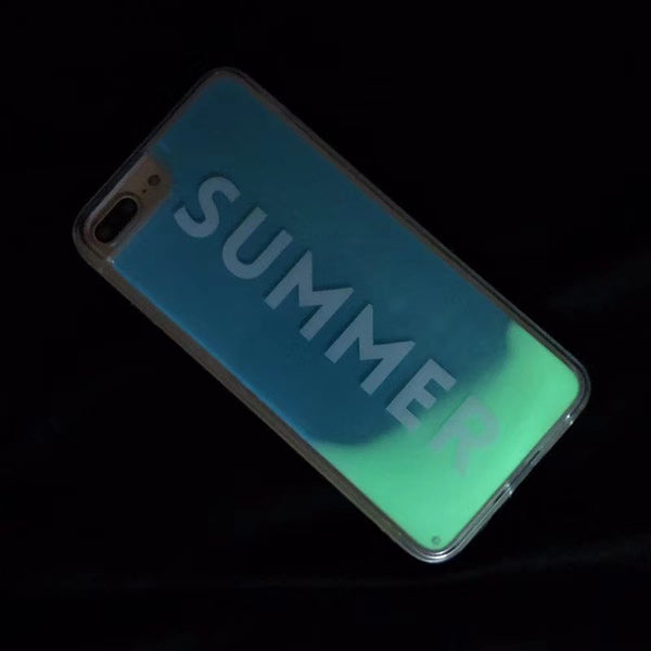 Fluorescent Quicksand Phone Case For Iphone X/XS/XR/XS Max/7 Plus/8 Plus
