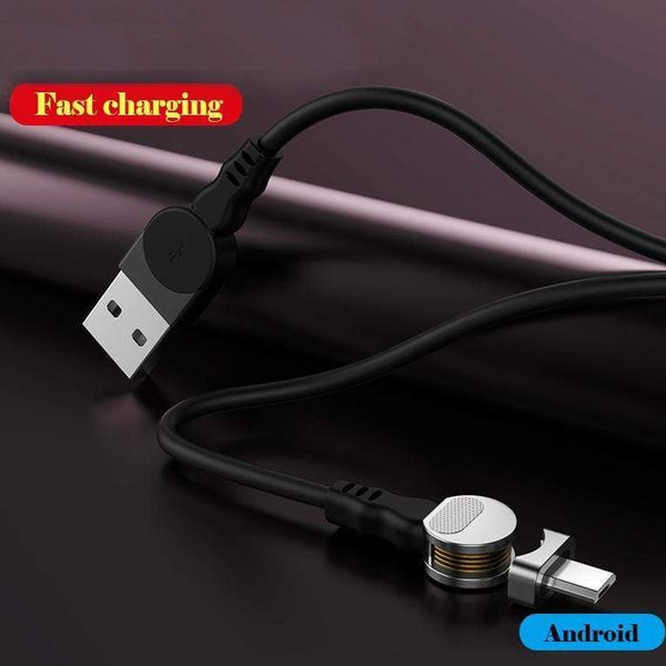 USB 180 ° Rotation Magnetic Cable to Fast Charging Sync Data Transmission for  iPhone/Huawei/Samsung  iOS/Android/type-C Magnetic charging cables