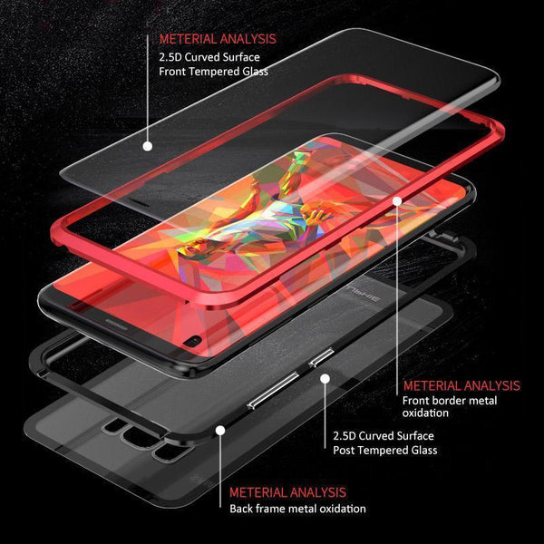 (Buy 2 Get Free shipping and 10% OFF!!)Magnetic Adsorption Transparent Tempered Glass Two side Glass Cover Phone Case For Samsung S8/S8 PLUS